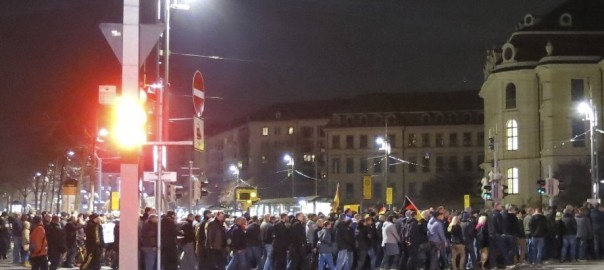 Pegida in Dresden am 17. 11. 2014